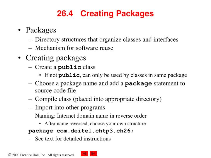 26.4 Creating Packages