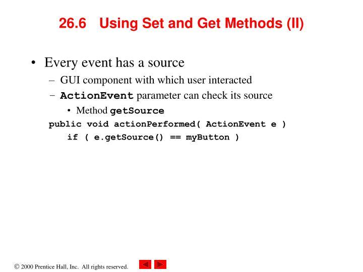 26.6 Using Set and Get Methods (II)
