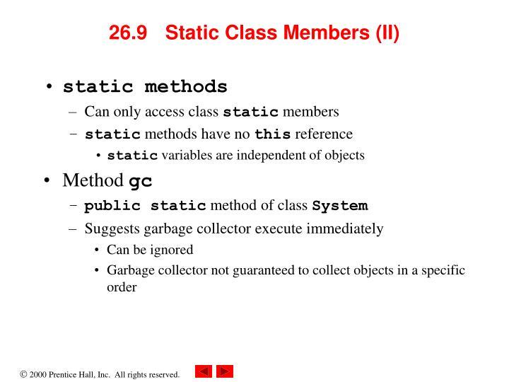 26.9 Static Class Members (II)