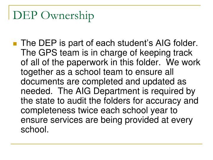 DEP Ownership