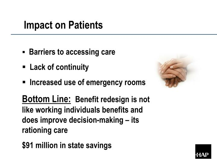 Impact on Patients