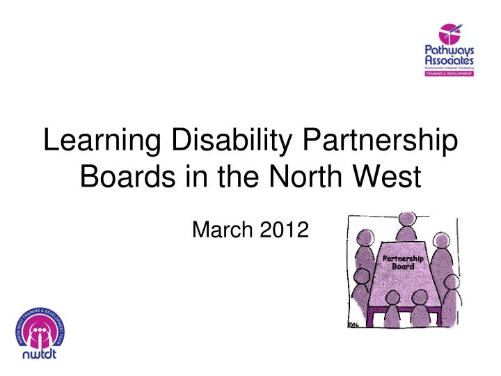 learning disability partnership boards in the north west n.