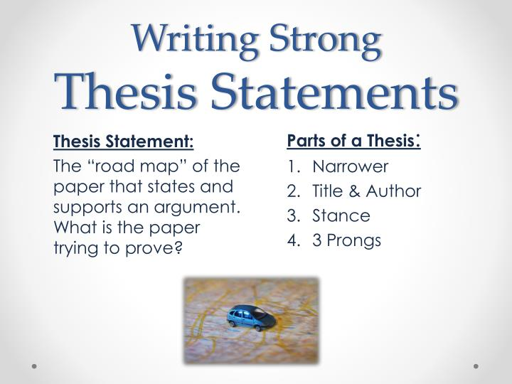 PowerPoint Slideshow about 'Writing an Effective Thesis statement' - trista