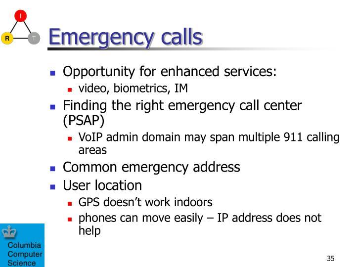 Emergency calls