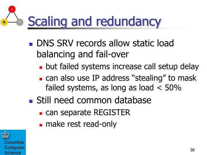 Scaling and redundancy