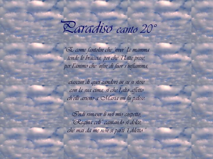 Paradiso canto 20