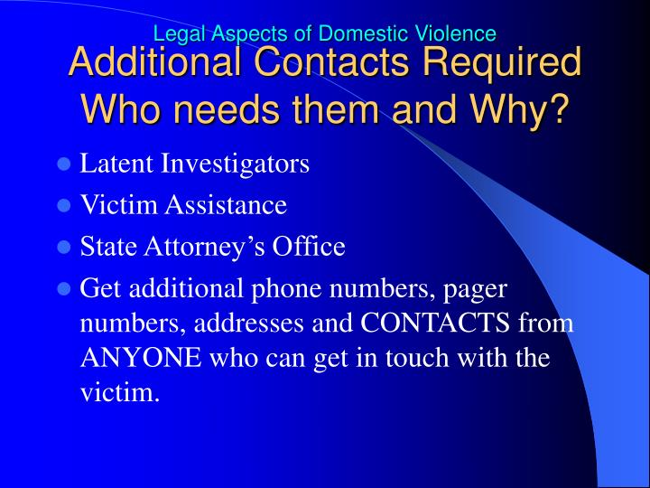 Additional Contacts Required