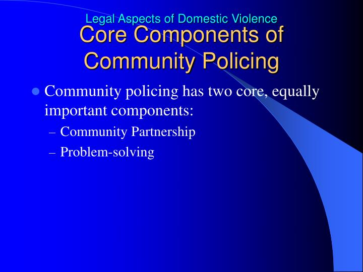 Core Components of Community Policing