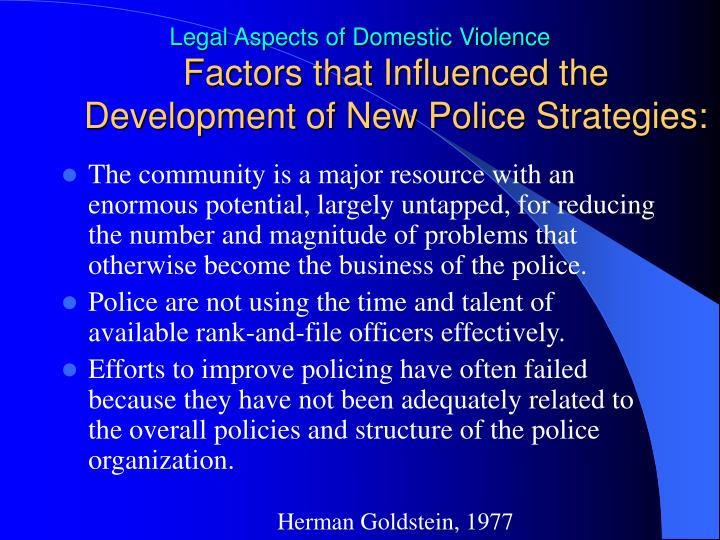Factors that Influenced the Development of New Police Strategies: