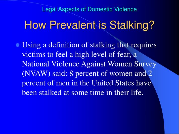How Prevalent is Stalking?
