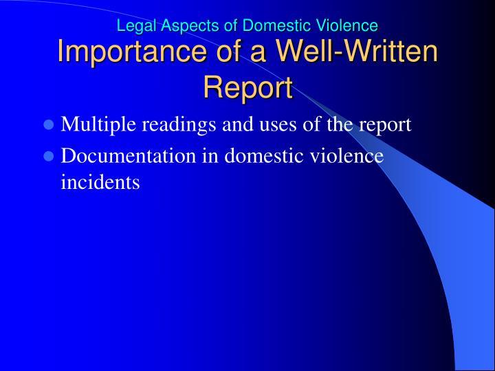 Importance of a Well-Written Report