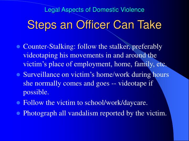 Steps an Officer Can Take