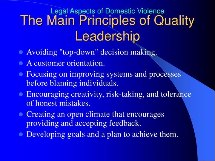 The Main Principles of Quality Leadership