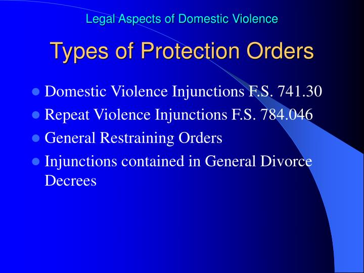 Types of Protection Orders