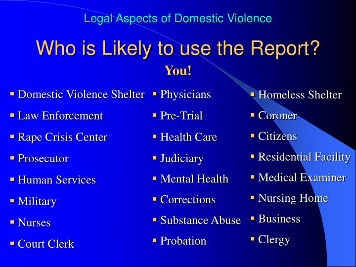 Who is Likely to use the Report?