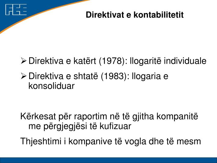 Direktivat e kontabilitetit