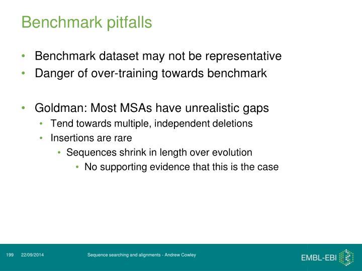 Benchmark pitfalls