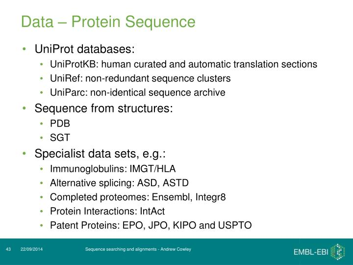 Data – Protein Sequence