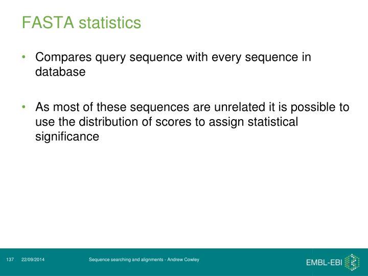 FASTA statistics