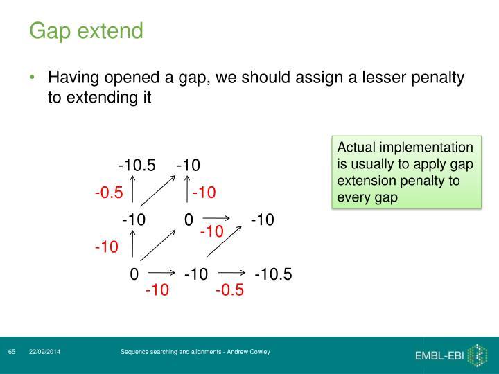 Gap extend