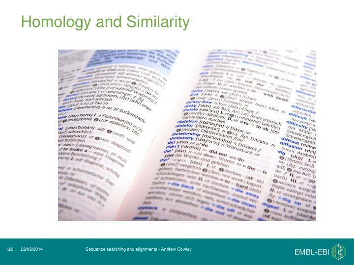 Homology and Similarity