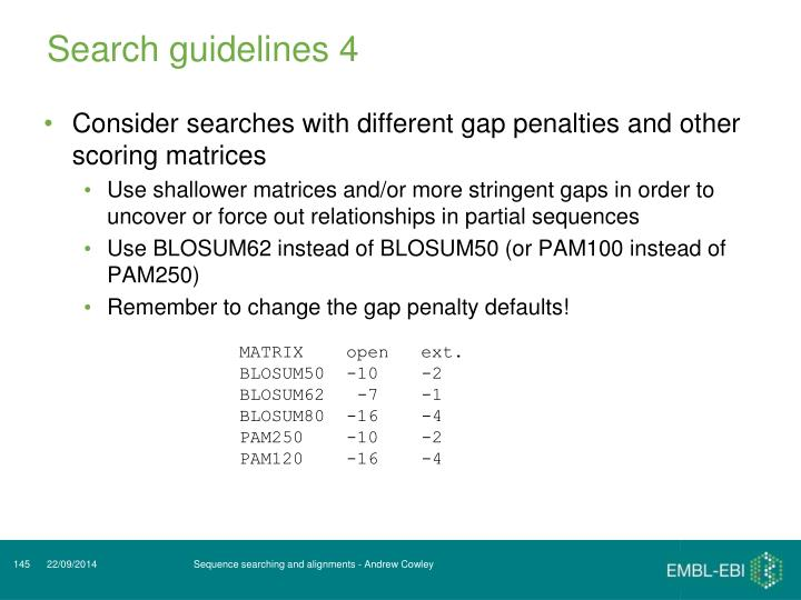 Search guidelines 4
