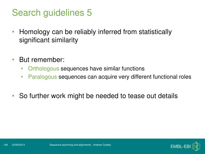 Search guidelines 5