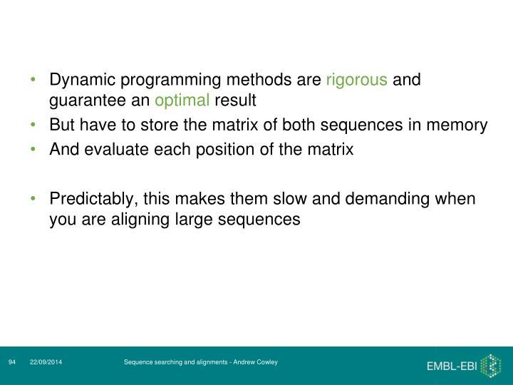 Dynamic programming methods are