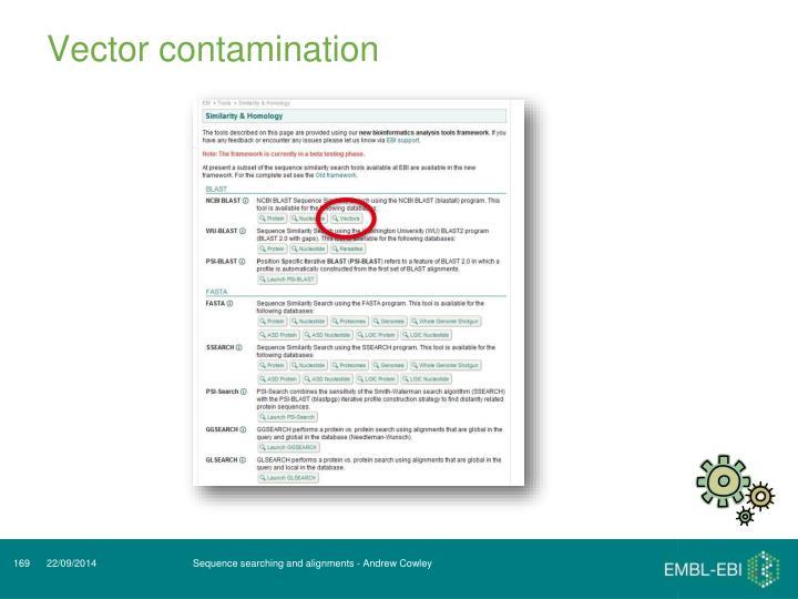 Vector contamination