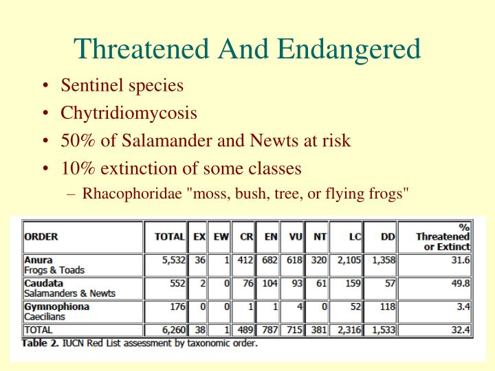 Threatened And Endangered