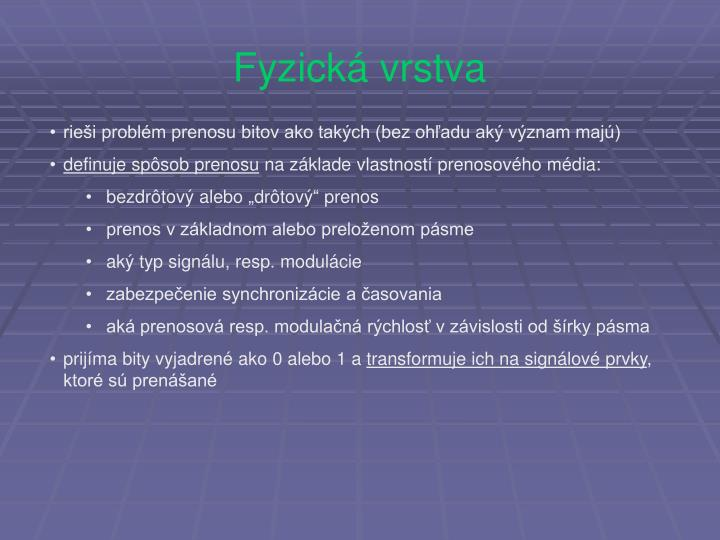 Fyzická vrstva