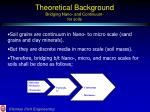 theoretical background bridging nano and continuum for soils