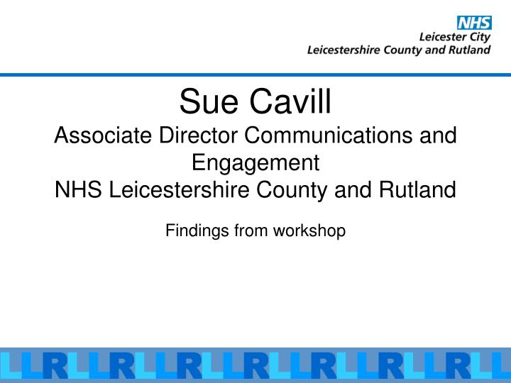 Sue Cavill