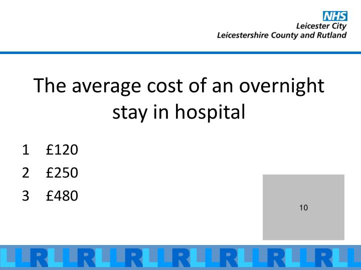 The average cost of an overnight stay in hospital