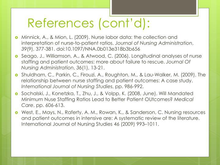 References (cont'd):