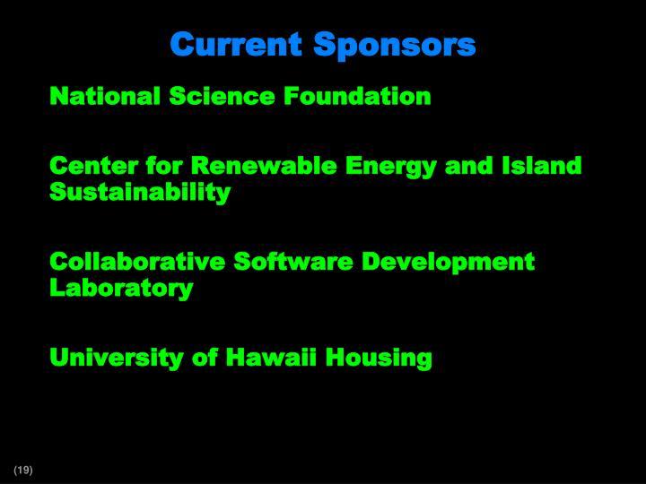 Current Sponsors