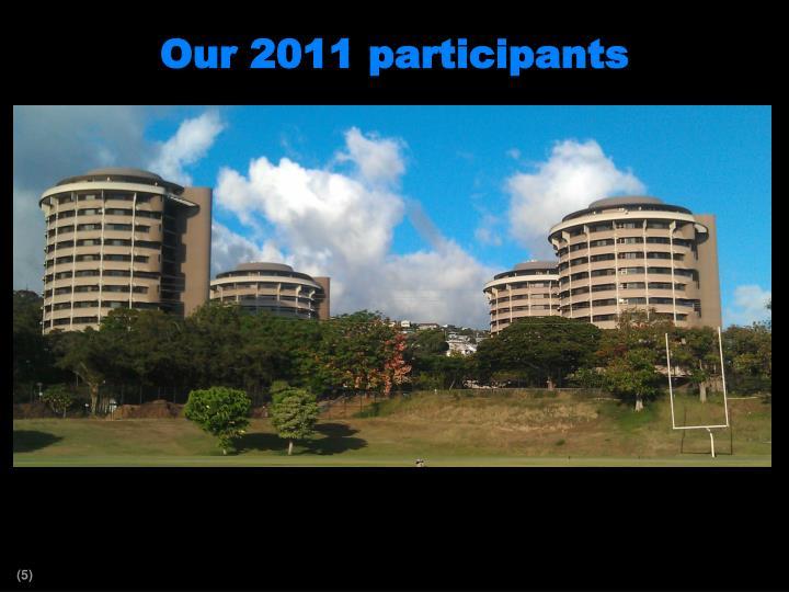 Our 2011 participants