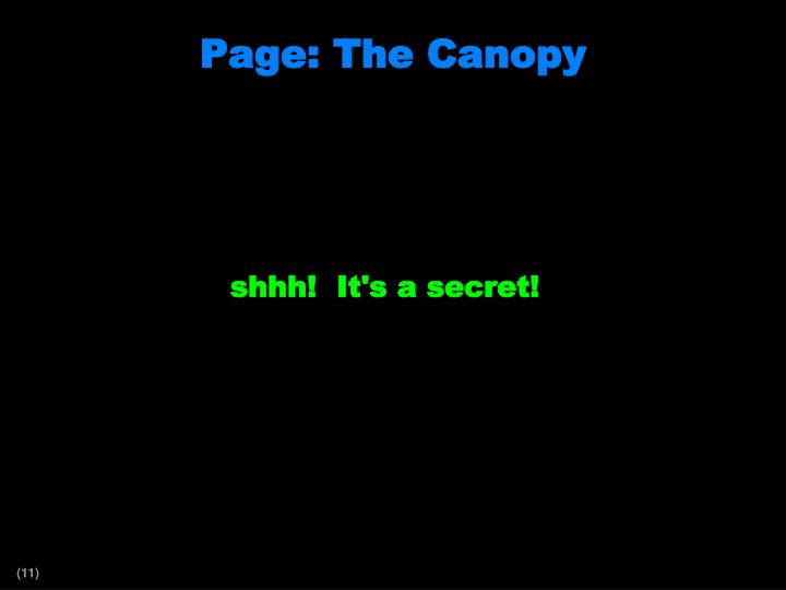 Page: The Canopy