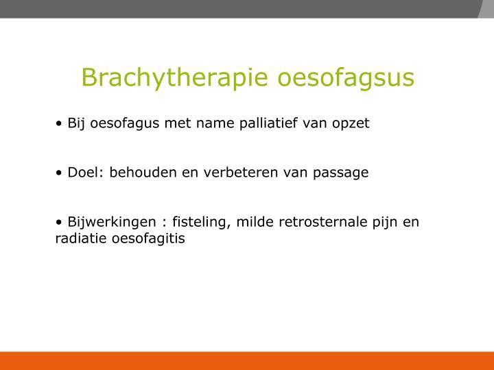 Brachytherapie oesofagsus