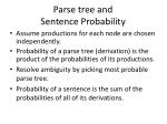 parse tree and sentence probability