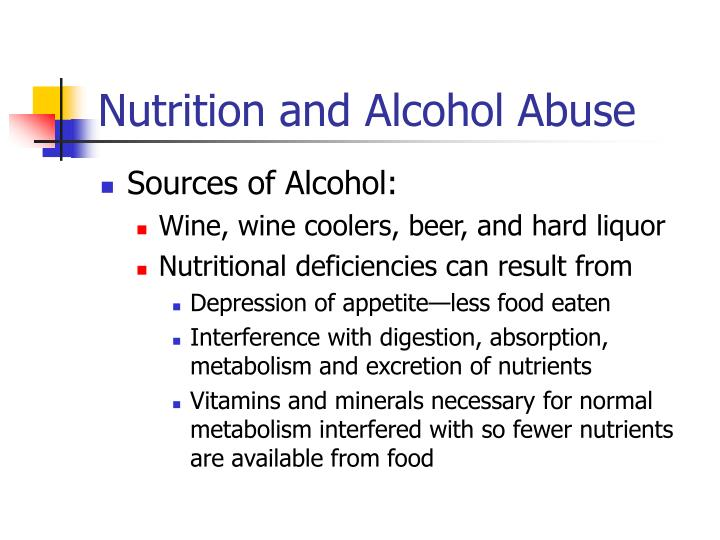 Nutrition and Alcohol Abuse