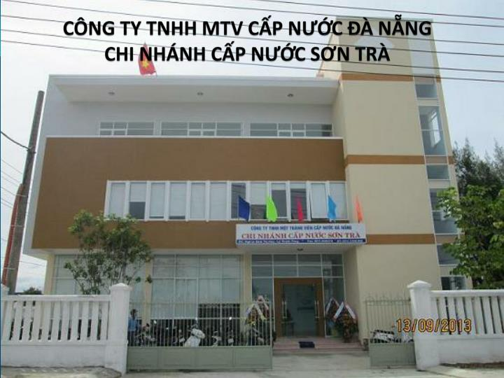 C ng ty tnhh mtv c p n c n ng chi nh nh c p n c s n tr