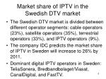 market share of iptv in the swedish dtv market