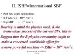 ii isbf international sbf