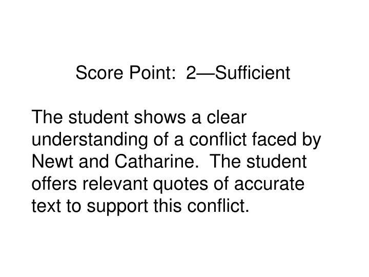 Score Point:  2—Sufficient