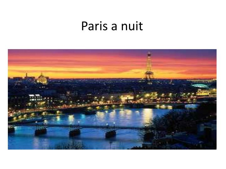 paris a nuit n.