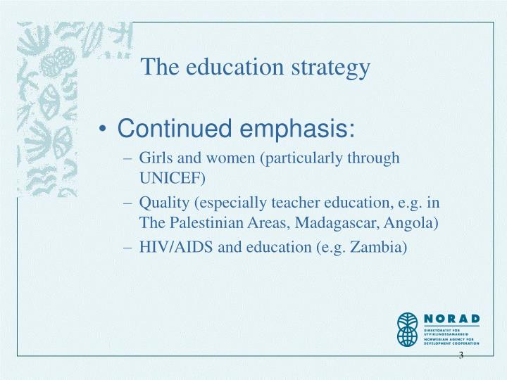 The education strategy1