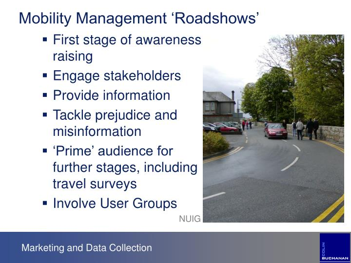 Mobility Management 'Roadshows'