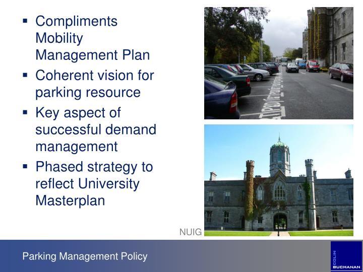 Compliments Mobility Management Plan