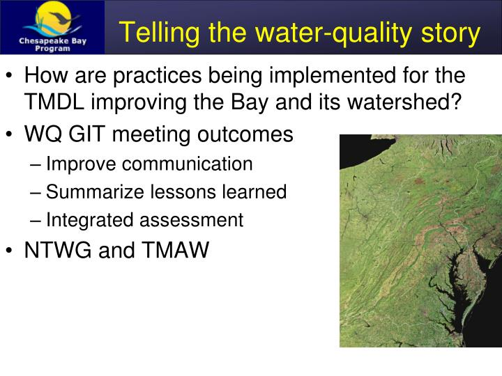 Telling the water quality story